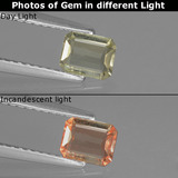 thumb image of 0.4ct Octagon Facet Green/Pink Color-Change Diaspore (ID: 439967)