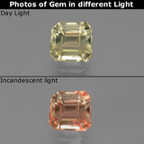 thumb image of 0.9ct Octagon Facet Green to Pink Color-Change Diaspore (ID: 439968)