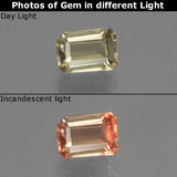thumb image of 0.7ct Octagon Facet Green/Pink Color-Change Diaspore (ID: 439969)