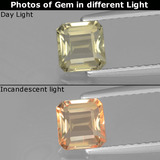 thumb image of 0.9ct Octagon Facet Green/Pink Color-Change Diaspore (ID: 440027)