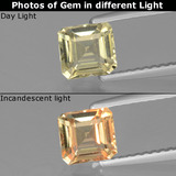 thumb image of 0.9ct Octagon Facet Green/Pink Color-Change Diaspore (ID: 440029)