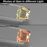 thumb image of 0.9ct Octagon Facet Green/Pink Color-Change Diaspore (ID: 440313)