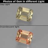 thumb image of 0.9ct Octagon Facet Green/Pink Color-Change Diaspore (ID: 440420)