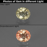 thumb image of 1.2ct Oval Facet Green/Pink Color-Change Diaspore (ID: 441137)
