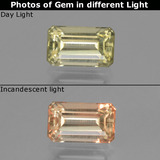 thumb image of 1.2ct Octagon Step Cut Light Yellow Color-Change Diaspore (ID: 447651)