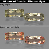 thumb image of 1.3ct Cushion-Cut Green to Pink Color-Change Diaspore (ID: 451601)