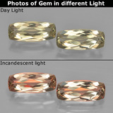 thumb image of 1.5ct Cushion-Cut Very Light Yellow Color-Change Diaspore (ID: 451605)