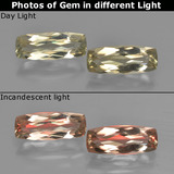 thumb image of 2.6ct Cushion-Cut Green/Pink Color-Change Diaspore (ID: 451606)
