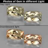 thumb image of 1.3ct Cushion-Cut Warm Yellow Color-Change Diaspore (ID: 451657)