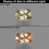 thumb image of 0.7ct Cushion-Cut Green to Pink Color-Change Diaspore (ID: 452166)