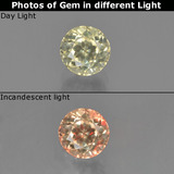 thumb image of 0.8ct Round Facet Green/Pink Color-Change Diaspore (ID: 452231)