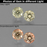 thumb image of 1.3ct Round Facet Green/Pink Color-Change Diaspore (ID: 452322)