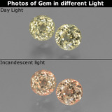 thumb image of 1.2ct Round Facet Green/Pink Color-Change Diaspore (ID: 452326)