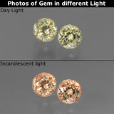 thumb image of 0.7ct Round Facet Green/Pink Color-Change Diaspore (ID: 452328)