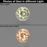 thumb image of 0.6ct Round Facet Green/Pink Color-Change Diaspore (ID: 452398)
