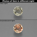 thumb image of 0.3ct Round Facet Green/Pink Color-Change Diaspore (ID: 452400)