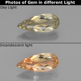 thumb image of 1.3ct Pear Facet Green/Pink Color-Change Diaspore (ID: 453930)