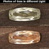 thumb image of 1.2ct Cushion-Cut Light Yellow Color-Change Diaspore (ID: 454000)