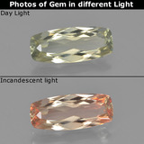 thumb image of 1.4ct Cushion-Cut Green/Pink Color-Change Diaspore (ID: 454002)