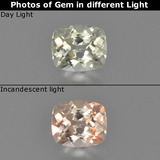 thumb image of 0.7ct Cushion-Cut Light Yellow Color-Change Diaspore (ID: 454082)