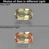 thumb image of 1.3ct Cushion-Cut Very Light Yellow Color-Change Diaspore (ID: 454138)