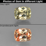 thumb image of 1ct Cushion-Cut Green to Pink Color-Change Diaspore (ID: 454339)