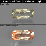 thumb image of 0.9ct Cushion-Cut Green/Pink Color-Change Diaspore (ID: 454343)