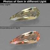 thumb image of 0.9ct Pear Facet Green/Pink Color-Change Diaspore (ID: 454363)