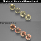 thumb image of 1.2ct Round Facet Green/Pink Color-Change Diaspore (ID: 454506)