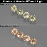 thumb image of 1.3ct Round Facet Green/Pink Color-Change Diaspore (ID: 454507)