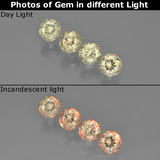 thumb image of 1.5ct Round Facet Green/Pink Color-Change Diaspore (ID: 454508)