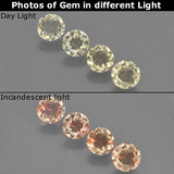 thumb image of 1.7ct Round Facet Green/Pink Color-Change Diaspore (ID: 454510)