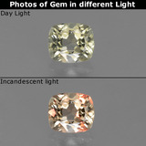 thumb image of 0.8ct Cushion-Cut Green/Pink Color-Change Diaspore (ID: 454533)