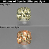 thumb image of 0.9ct Cushion-Cut Green/Pink Color-Change Diaspore (ID: 454537)