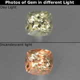 thumb image of 0.8ct Cushion-Cut Green/Pink Color-Change Diaspore (ID: 454557)
