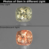 thumb image of 0.7ct Cushion-Cut Green/Pink Color-Change Diaspore (ID: 454558)