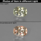 thumb image of 0.8ct Cushion-Cut Green/Pink Color-Change Diaspore (ID: 454560)