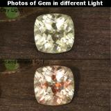 thumb image of 0.7ct Cushion-Cut Green to Pink Color-Change Diaspore (ID: 454581)