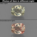 thumb image of 0.7ct Cushion-Cut Green/Pink Color-Change Diaspore (ID: 454586)