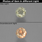 thumb image of 0.3ct Round Facet Green/Pink Color-Change Diaspore (ID: 454590)