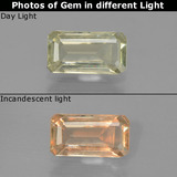 thumb image of 1.3ct Octagon Step Cut Green/Pink Color-Change Diaspore (ID: 454597)