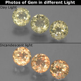 thumb image of 1.9ct Round Facet Green/Pink Color-Change Diaspore (ID: 454599)