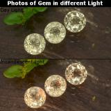 thumb image of 1ct Round Facet Green/Pink Color-Change Diaspore (ID: 475333)