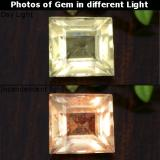 thumb image of 1ct Square Step-Cut Green/Pink Color-Change Diaspore (ID: 478371)