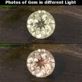 thumb image of 0.4ct Round Facet Green/Pink Color-Change Diaspore (ID: 478429)