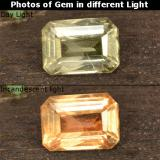 thumb image of 0.9ct Octagon Step Cut Green to Pink Color-Change Diaspore (ID: 478516)