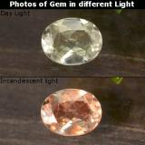 thumb image of 0.3ct Oval Facet Green/Pink Color-Change Diaspore (ID: 478539)