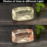 thumb image of 0.8ct Cushion-Cut Green/Pink Color-Change Diaspore (ID: 478673)