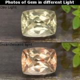 thumb image of 0.9ct Cushion-Cut Green to Pink Color-Change Diaspore (ID: 478677)