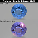 thumb image of 14.2ct Round Facet Violet-Blue Color-Change Fluorite (ID: 413681)